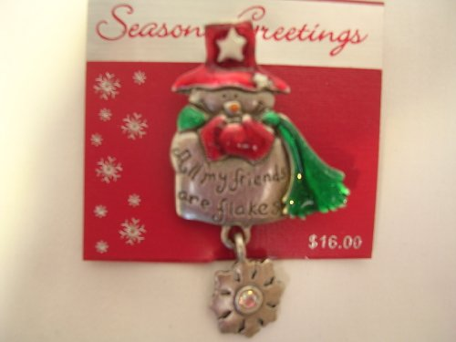 Christmas Pewter Jewelry Pin ;