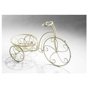 Décoration de vélo avec le cache-pot en métal