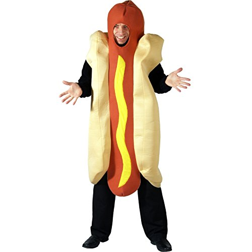 Giant Hot Dog Funny Hotdog Fancy Dress Costume - One Size