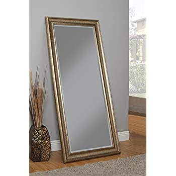 Sandberg Furniture 14111 Full Length Leaner Mirror Frame, Antique Gold