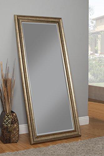 Sandberg Furniture 14111 Full Length Leaner Mirror Frame, Antique Gold 2