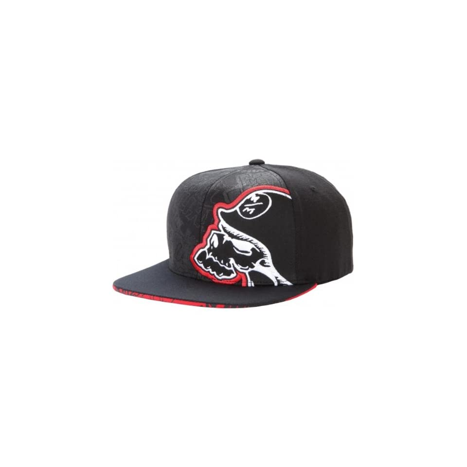 b5a7b0ba77a94 Metal Mulisha Scrap Mens Flexfit Race Wear Hat Cap Black Red   Large ...