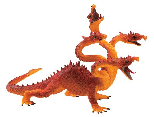 Knights and Dragons- Four Headed Orange Dragon