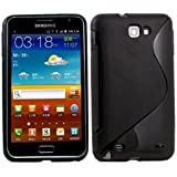 Fosmon S-Curve Soft Shell TPU Case for Samsung GALAXY Note GT-N7000 / SGH-I717 - Solid Black