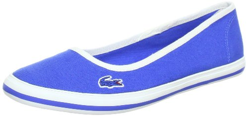 Women's Lacoste Marthe 7 SRW Canvas Slip On Shoe 7 25SRW1126125 Blue (Women's 10, Blue)