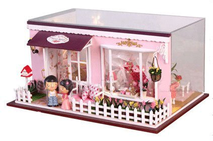 Big Dollhouse Miniature Diy Wood Frame Kit With Light Model Sweet Promise Gift Ldollhouse118-D69