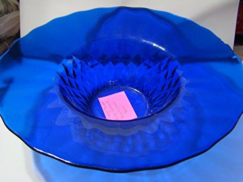 Vintage Fenton Blue Cobalt Scallopped Bowl Cobalt Carnival Glass