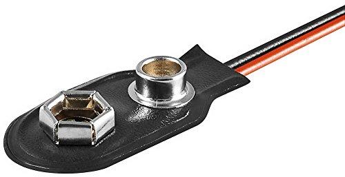 Coupleur à pression pour pile 9 v, forme i matériau : plastique-pack de 10