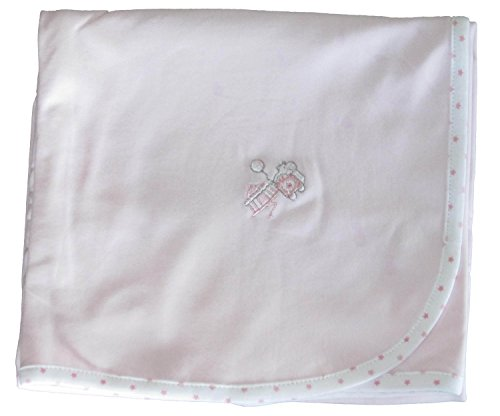 Kissy Kissy Baby-Girls Infant Circus Stars Receiving Blanket-Pink-One Size