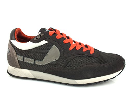 GUESS T1 sneakers uomo PELLE TESSUTO BROWN MARRONE 43