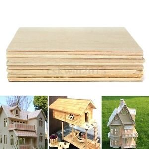 20Pcs Wooden Plate Model Balsa Wood DIY House Ship Aircraft Light 100x100x1mm (Castle Model Wood compare prices)