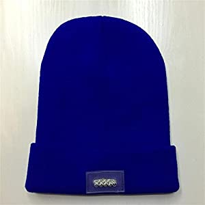 Unisex 5 LED Knitted Flashlight Beanie Hat/cap for Hunting, Camping, Grilling, Auto Repair, Jogging, Walking, or Handyman Working - One Size Fits Most (One size, blue) by asc