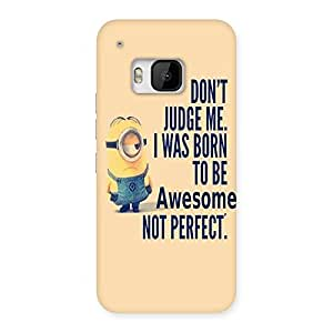 Gorgeous Quote Minio Yel Back Case Cover for HTC One M9