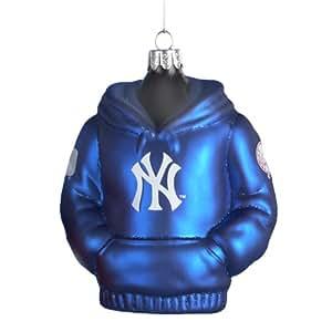 Kurt Adler 4-1/2-Inch New York Yankees Glass Hoodie Sweatshirt Ornament