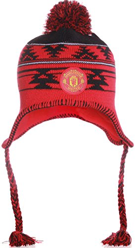 MUFC Manchester United FC Pom Pom Beanie Knit Hat Cap (Manchester United Hats And Caps compare prices)