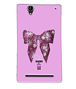 Fuson Butterfly Pattern Back Case Cover for SONY XPERIA T2 ULTRA - D3891