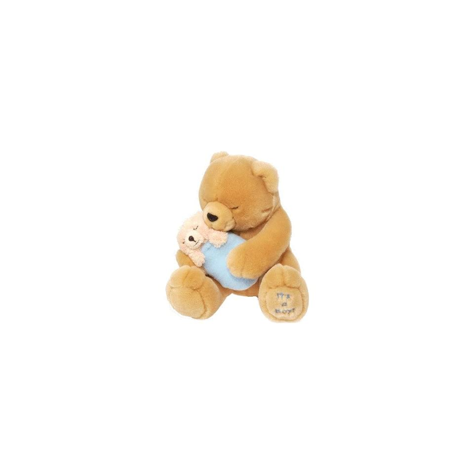 Teddy Bear w/ Baby Boy Plush by Wild Republic