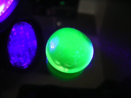 ★ fluorescent American-made uranium glass marbles (with pochi bags)