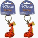 Disney Tigger PVC Figural Keyring - Tigger Figure Keychain (2 Pack)