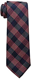 Tommy Hilfiger Men\'s Ss Buffalo Check Tie, Orange, One Size
