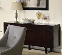Hot Sale Server Sideboard Contemporary Style Cappuccino Finish