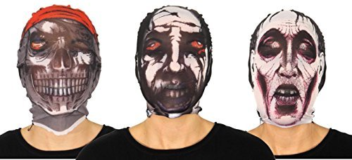 Halloween Tela Medias Zombie Máscaras para adultos y los niños - One Máscara enviado al azar