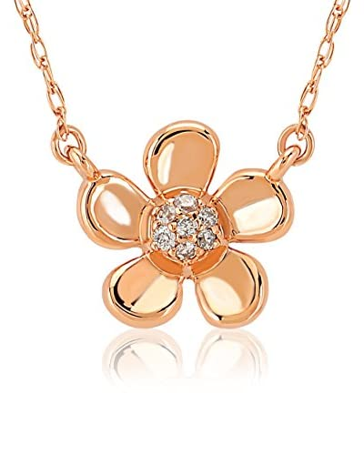 Divas Diamond Set catenina e pendente Diamond Gold Flower