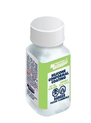 MG Chemicals 422B Silicone Conformal Coating, 55 ml Liquid Bottle, Clear (Curing Heat Lamp compare prices)