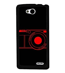 Camera 2D Hard Polycarbonate Designer Back Case Cover for LG L90