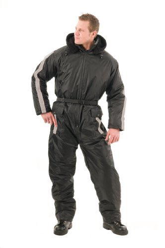 Mossi Black and White Large Men's Snow Suit - 1 Piece