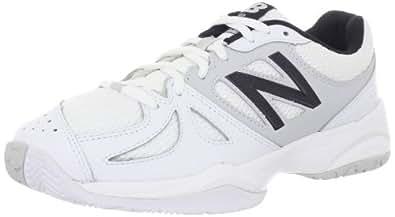 New Balance Women's WC696 Lightweight Tennis Shoe,White/Silver,9.5 B US