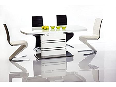 "Design ""Lucky"" Glossy Extendable Dining Table"
