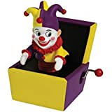 Jack In The Box Musical Hand Crank with Purple & Yellow Jester Figure