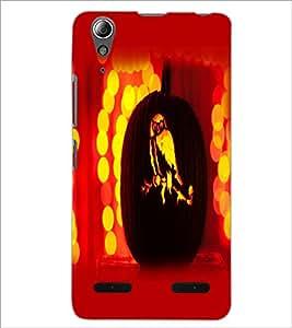 PrintDhaba Owl D-1457 Back Case Cover for LENOVO A6000 PLUS (Multi-Coloured)