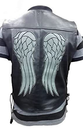 The Walking Dead Governor Daryl Dixon Angel Wings Leather Vest (L