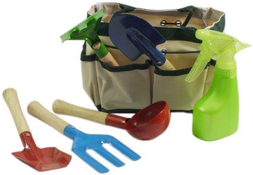 Charlie Dimmock 7 Piece Childrens Garden Tool Bag Gift Set