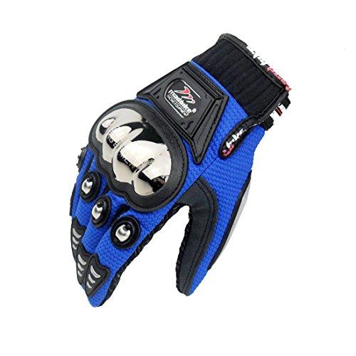 madbike Full Finger guanti moto estivi per (Blu size-xl)