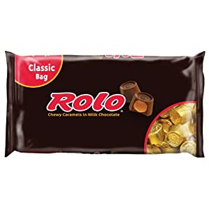 Rolo Chewy Caramels in Milk Chocolate, 12-Ounce Bags (Pack of 4)