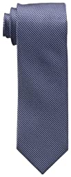 Calvin Klein Men\'s Steel Micro Solid B Tie, Navy, One Size