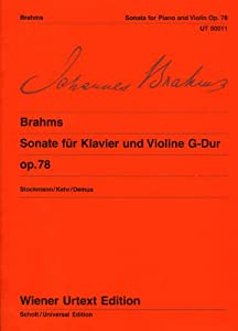 Sonata G Major Op 78edited From The Autograph And The Original Editionviolin And Piano by Wiener Urtext Edition