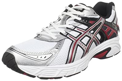 ASICS Men's GEL-Strike 3 Running Shoe,White/Platinum/Red,8 M US