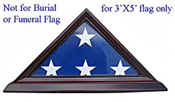 3\'X5\' Flag Display Case Box (NOT for Funeral flag), SOLID WOOD FC35 (Cherry, For 3\'X5\' Flag)