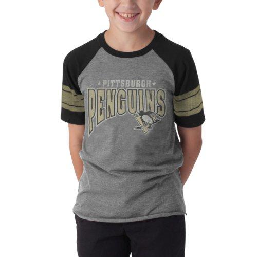 Nhl Pittsburgh Penguins Playball Tee, Medium, Slate Grey front-877859