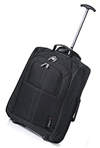 5 Cities Cabin Trolley Hand Luggage Bag Fits 50x40x20cm, Black