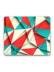 Madanyu - Red Cream Triangles - Mousepad - For Gamers - HD Print
