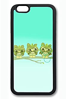 buy Iphone 6 Case, Iphone 6 Case - Customized Design Soft Case For Iphone 6 Music Headphones Branch Cartoon Owls Special Edition Black Rubber Back Case Bumper For Iphone 6 4.7 Inches
