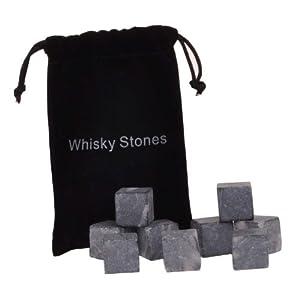 Angel Wings Whiskey Stones Rocks Ice Cubes Soapstone Wine Bev Chillers 3 6 9pcs/set (3pcs/ bag, Black)