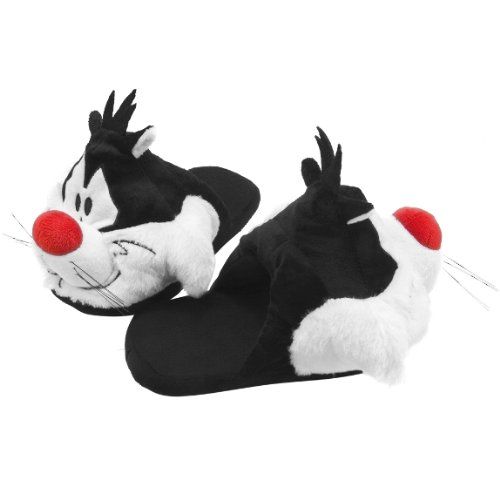 Old Glory Women's Looney Tunes Sylvester Plush Juniors Slippers