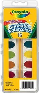 Crayola Washable Watercolors, 16 count (53-0555)