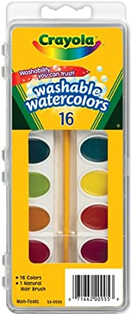 Crayola Washable Watercolors, 16 count (53-0555)